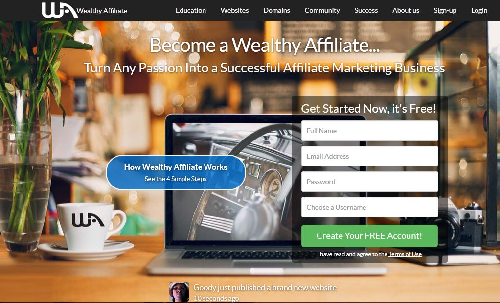 wealthy affiliate login